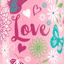 розовый Love
