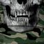 Green Military Camo Skull