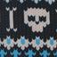 Skull Blue polartec