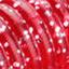 прозрачный красный с серебристыми блёстками