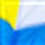 белый / голубой / желтый