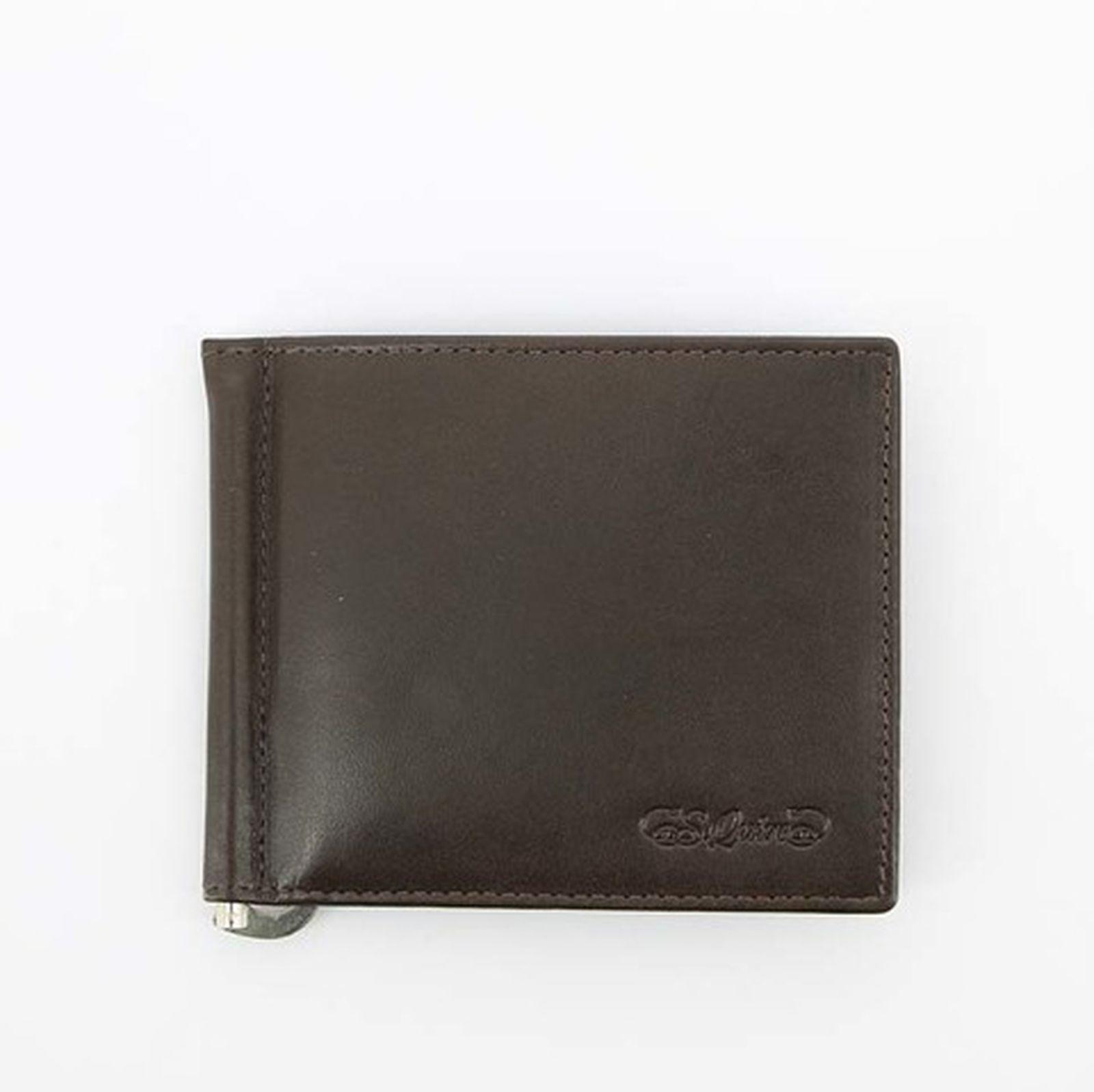8a700efdc291 Портмоне S.Quire с клипом для денег, натуральная воловья кожа, гладкая, 11x9