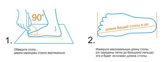 выбор_размера_Обувь_Garsing_измерение_стопы