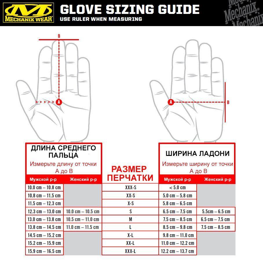 выбор_размера_перчаток_Mechanix